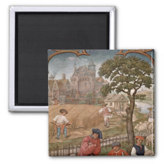 The Month of July 2 Inch Square Magnet