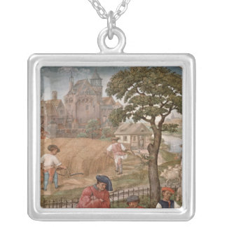 The Month of July Silver Plated Necklace