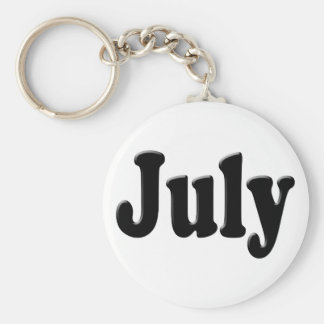 The Month Of July Text Keychain