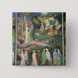The Month of June, c.1400 Pinback Button