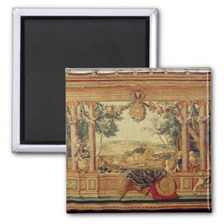 The Month of June/ Chateau of Fontainebleau 2 Inch Square Magnet