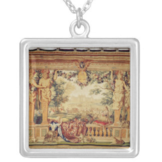 The Month of September/ Chateau of Chambord Silver Plated Necklace