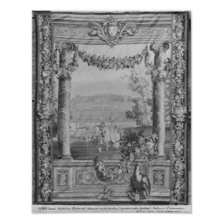 The Months or Royal Residences' tapestry Print