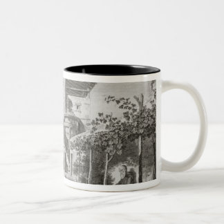 The Monument of Lysicrates in the garden of the Ca Two-Tone Coffee Mug