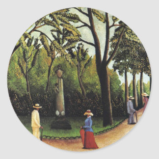 The Monument to Chopin in the Luxembourg Gardens Classic Round Sticker