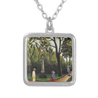 The Monument to Chopin in the Luxembourg Gardens Silver Plated Necklace