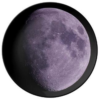 """The Moon - 10.75"""" Decorative Porcelain Plate"""