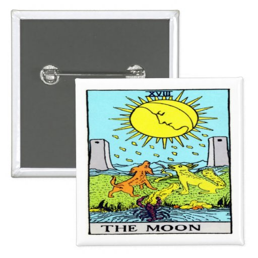 the Moon 2 Inch Square Button