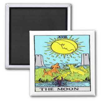 The Moon 2 Inch Square Magnet