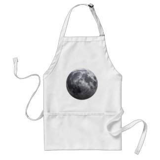 The Moon - 3D Effect Adult Apron
