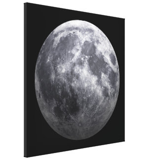 The Moon - 3D Effect Canvas Print