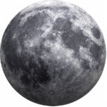 The Moon - 3D Effect Photo Cut Out