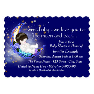 to the moon and back invitations & announcements | zazzle, Baby shower invitations