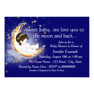 The Moon and Back Baby Shower Card