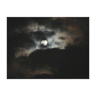 The Moon and Eye-Full Moon Sky Canvas Print