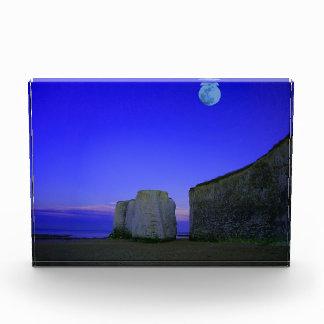 the moon and rocks acrylic award