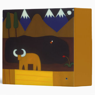 The Moon and the Bull in the Peruvian Mountains Binder