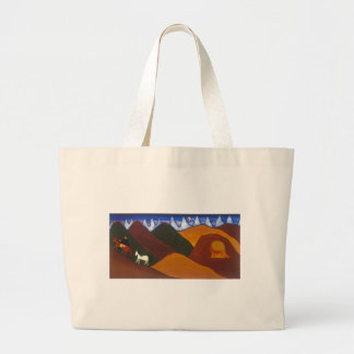 The Moon and the Puma Saying Goodbye to the Large Tote Bag