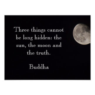 The moon and the truth - Buddha Quote - art print