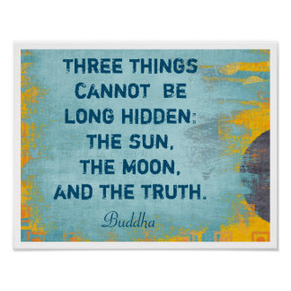 The Moon and Truth - Buddha quote -- art print
