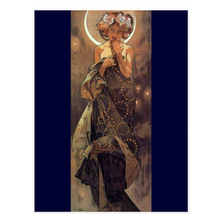 The Moon - Art Nouveau Postcard