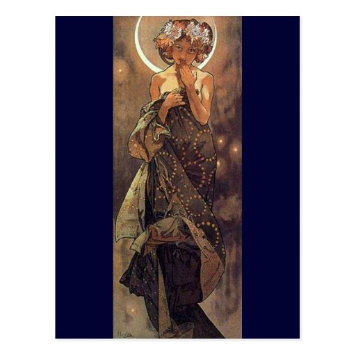 The Moon - Art Nouveau Post Cards