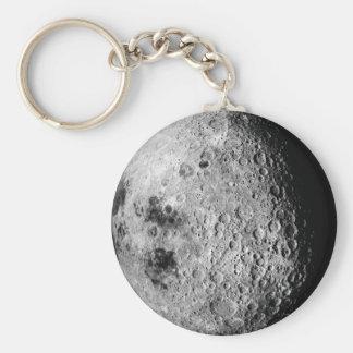 The Moon Basic Round Button Keychain