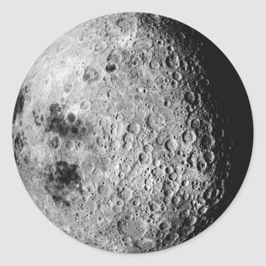 The Moon Classic Round Sticker