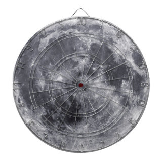The Moon Dartboard With Darts