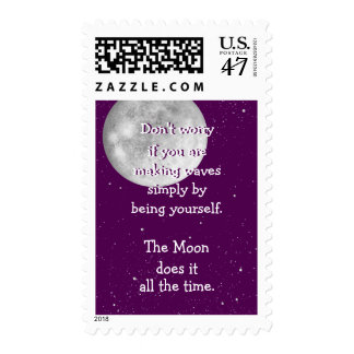 The moon does it all the time postage