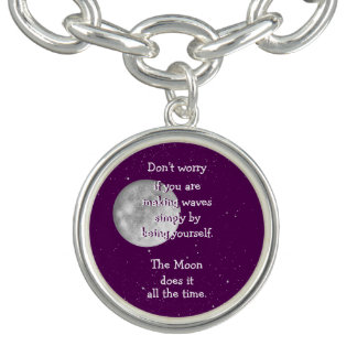 The moon does it all the time (small moon) charm bracelet