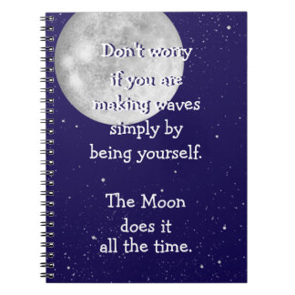 The moon does it all the time (small moon) notebook