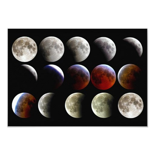 The Moon During a Full Lunar Eclipse Card