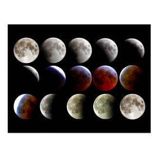 The Moon During a Full Lunar Eclipse Postcards