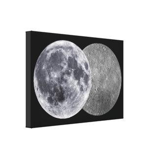The Moon, Earth Facing Side & Far Side Canvas Print