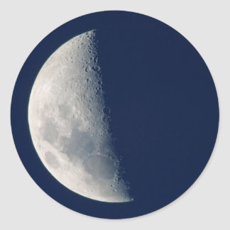 The Moon From Howick, Kwazulu-Natal Classic Round Sticker
