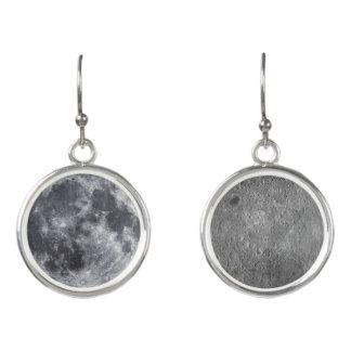 The Moon: Front & Farside Earrings