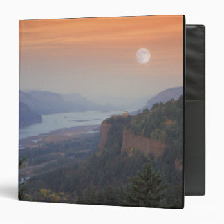 The moon hangs in the sky above the Vista 3 Ring Binder