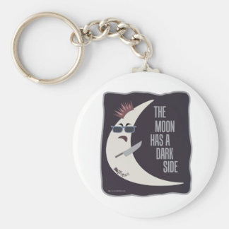 The Moon Has A Dark Side Keychain