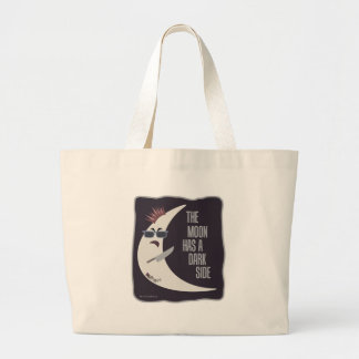 The Moon Has A Dark Side Large Tote Bag