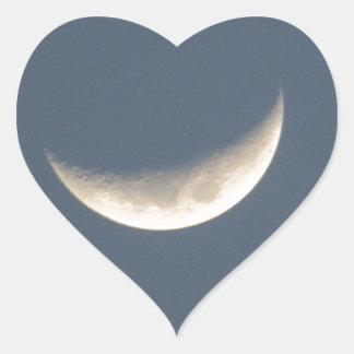 The Moon Heart Sticker