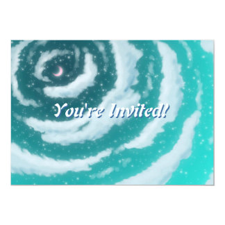 The Moon in the Cyan Sky Invitation