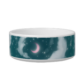 The Moon in the Cyan Sky Pet Bowl