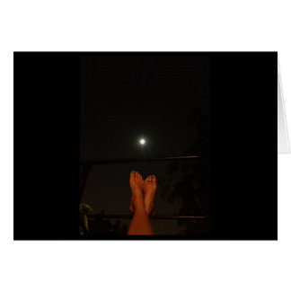THE MOON IS OUT AND THINKING OF YOU-AND ONLY YOU CARD
