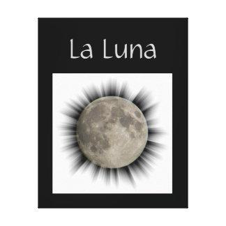 The moon, la lune, la luna, the moon canvas