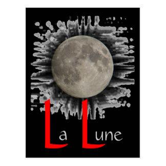 The moon, la lune, la luna, the moon postcard