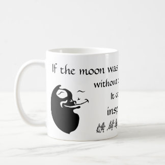 The Moon Loves the Sun - White Background Coffee Mug
