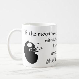 The Moon Loves the Sun - White Background Basic White Mug