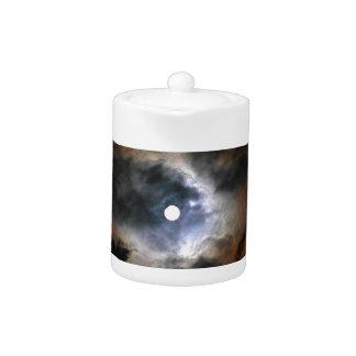 The moon on dark night teapot