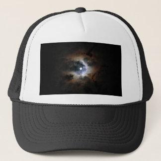The moon on dark night trucker hat